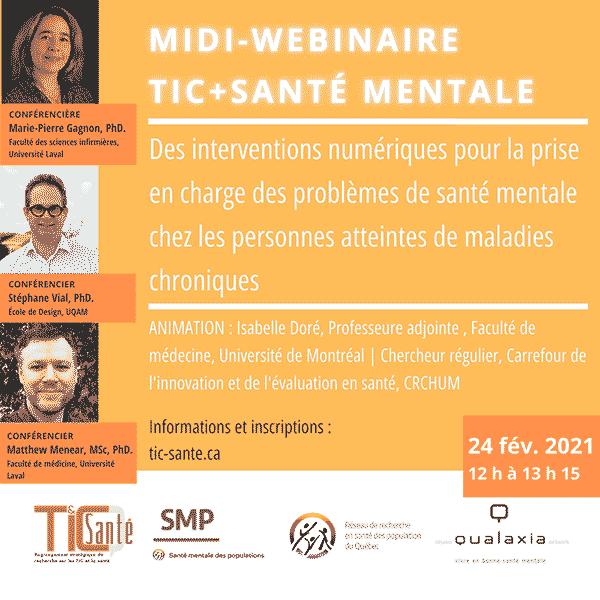 Midi-webinaire Tic+Santé Mentale